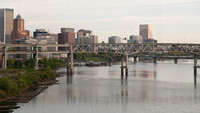 Portland from the 17 Bus Crossing the Ross Island Bridge