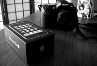 iPhone Box and Nikon D300