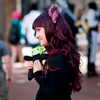 Cosplayer At Pioneer Courthouse Square