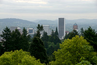 View of Portland from the Japanese Garden