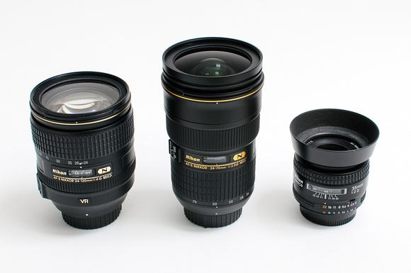 Three Lenses • Middle Lens: Nikkor AF-S 24-70mm f/2.8G