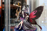 Anime Figurines in the Display Case
